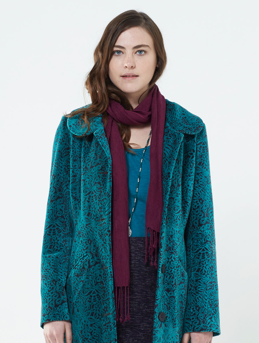 Tassle Scarf Winter Berry